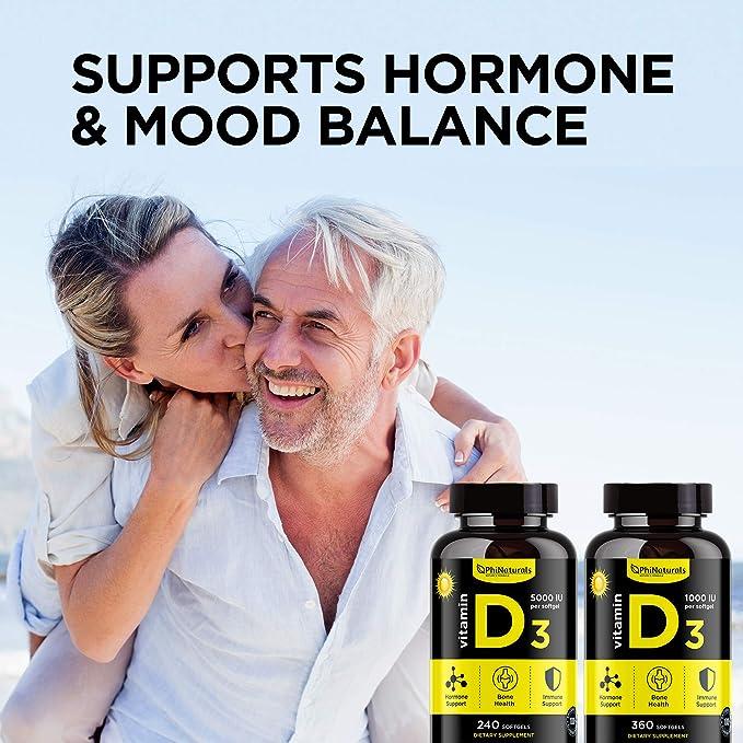 Vitamina D3 Cápsulas de 5000 UI. 240 cápsulas de Vitamina D de ...