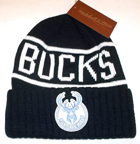 9b21b49e Image Unavailable. Image not available for. Color: Mitchell & Ness  Milwaukee Bucks Cuffed Ribbed Knit Hat ...