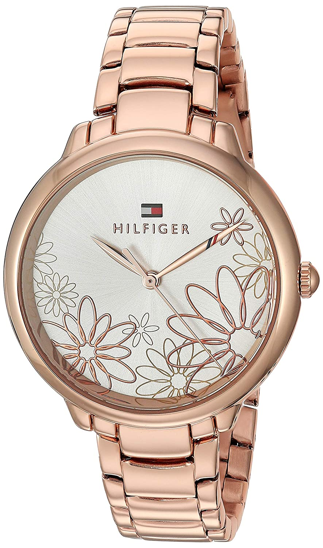 Tommy Hilfiger Women s Quartz Watch with Strap, Rose Gold, 15 Model 1781780