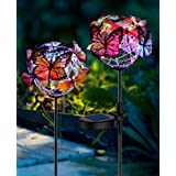 Solar Lights Outdoor Butterfly Lights Garden Decorative SolarStake Lights with Butterflies Decor Powered Waterproof for Gard