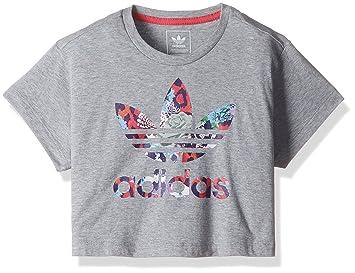 adidas Niña Camiseta S96109 Gris Gris 170/14-15 Years: Amazon.es: Ropa y accesorios
