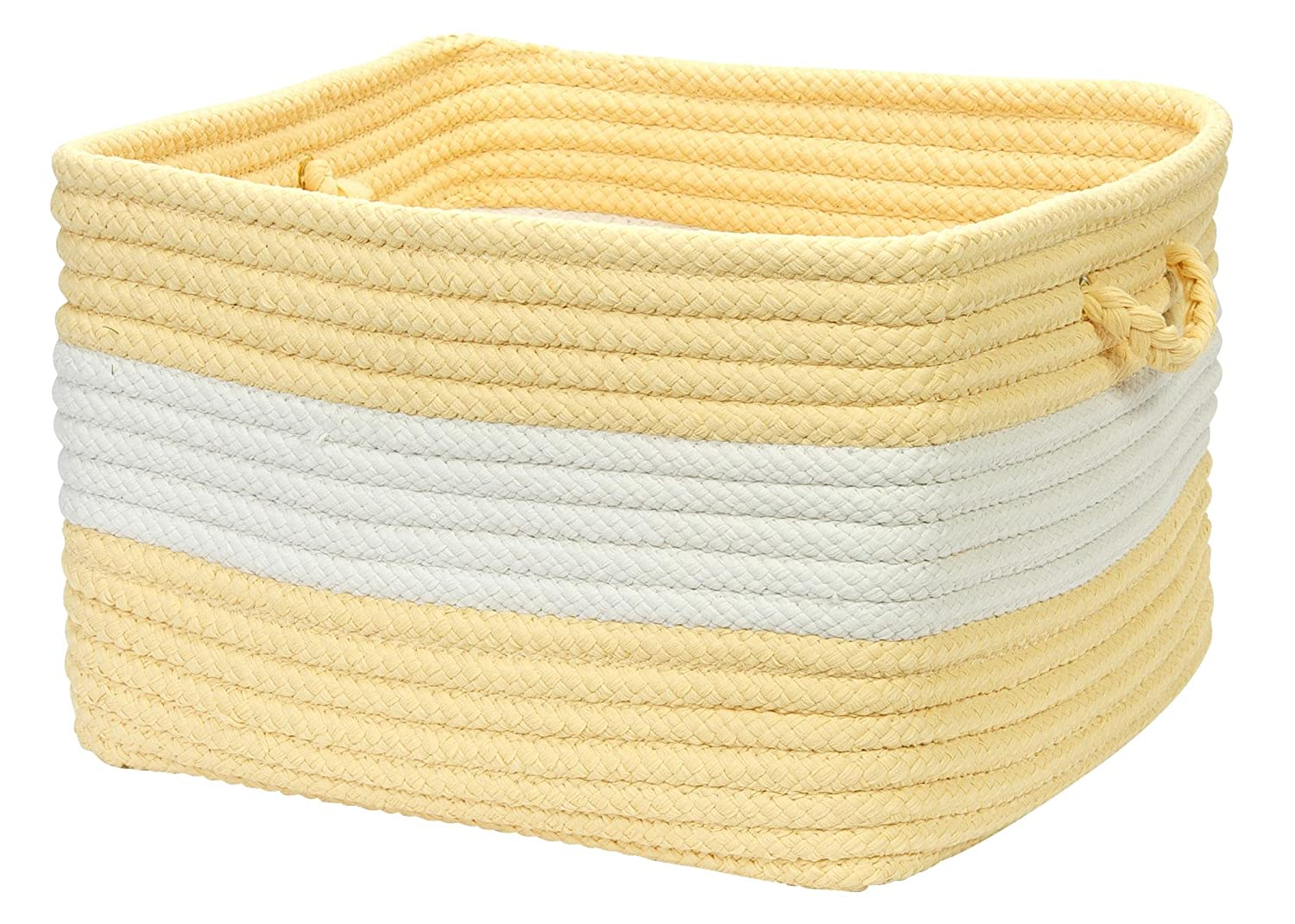 Colonial Mills Rope Walk Utility Basket Yellow CB90A018X018S 18 by 12-Inch
