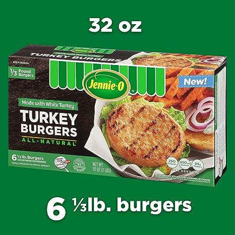 Jennie O All Natural White Turkey Burger 2 Lb Frozen Amazon