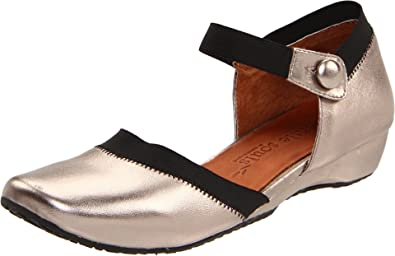 Gentle Souls Iso Jane Ankle-Strap Flat,Pewter,5.5 M US