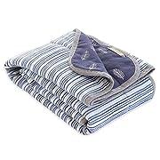 Burt's Bees Baby - Reversible Blanket, Multipurpose Nursery & Tummy Time Organic Jersey Cotton Baby Blanket (On the Road)