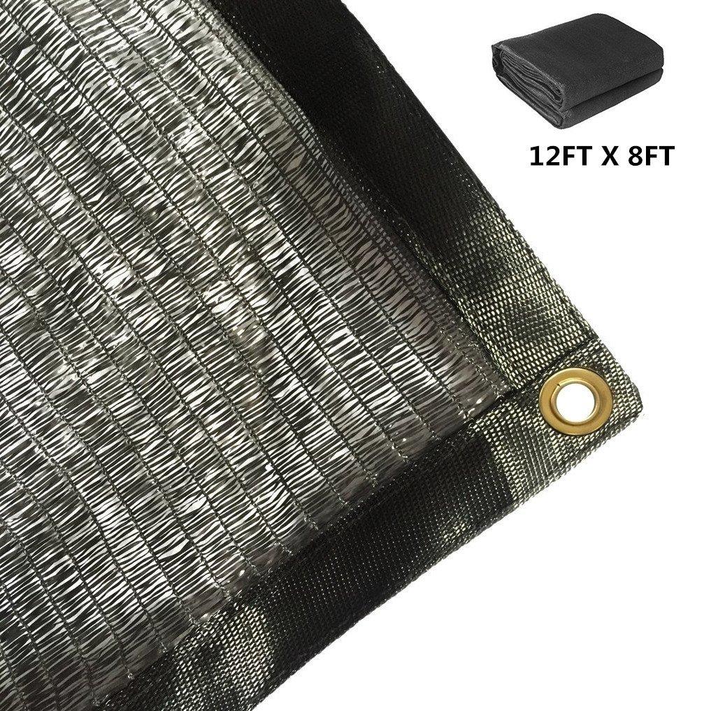 Harvest 50% Black Sunblock Shade Cloth UV Resistant, Premium Heavy Duty Mesh Tarp, Shade Net Panel for Plant Cover Greenhouse,Plants,Barn,Kennel, Pool, Pergola or Carport (12ft X 8ft) by Harvest