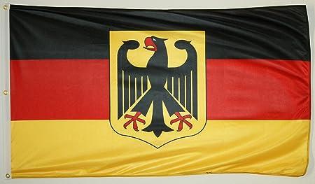 FAHNE//FLAGGE  Deutschland  BRD  mit Bundesadler  90x150