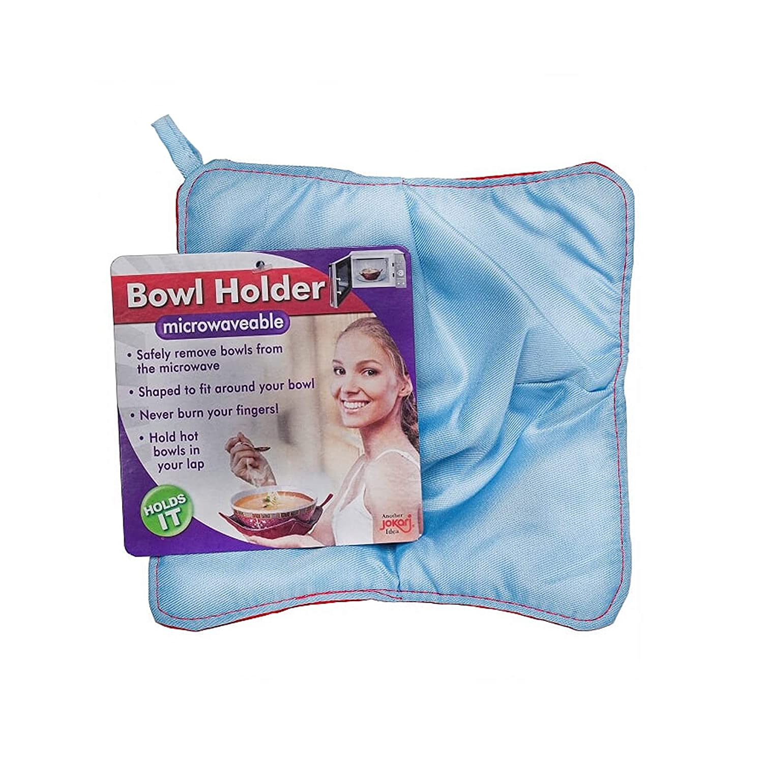 Jokari Bowl Holder, Microwave Safe & Heat Resistant Pad Keeps Hands Cool While Holding Warm Heated Containers, Reusable and Washable, Never Burn Your Fingers Again (4 Pack)