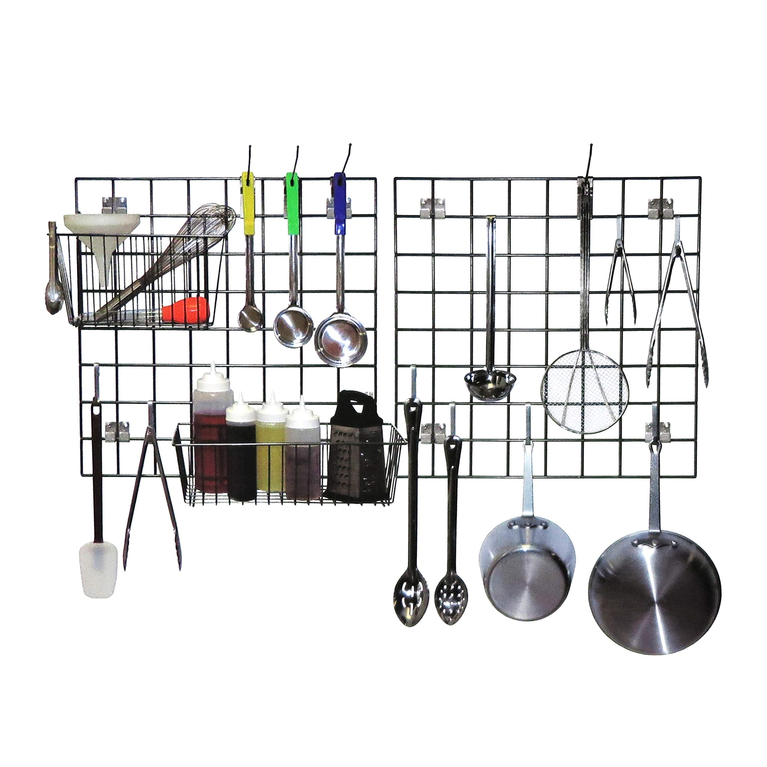 Premium Wall Mounted Food Prep and Drying Kit For Restaurants and Kitchens - Keep Your Culinary Supplies Organized by Vision