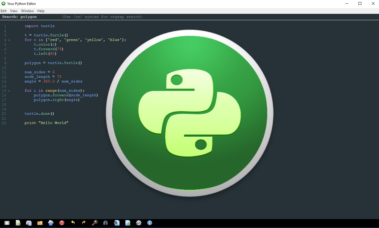 Your Python Editor (Beta) [Download]