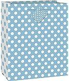 Large Baby Blue Polka Dot Gift Bag