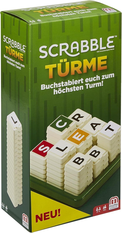 Mattel Games GCW07 Scrabble Turme - Juego de Diccionario, Apto para 2 – 4 Jugadores, duración de Juego Aprox. 20 Minutos, a Partir de 10 años: Amazon.es: Juguetes y juegos