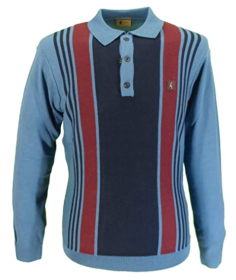 72c1fed5d Gabicci Vintage Mens Stripe Knitted Polo: Amazon.co.uk: Clothing