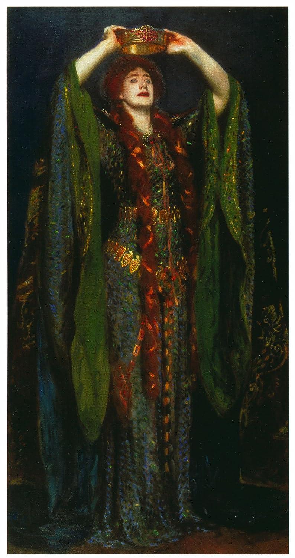 Ellenテリーas Lady macbeth-sargent – キャンバスまたはFine印刷壁アート Gallery Wrap - 16 x 32 Gallery Wrap - 16 x 32  B008KCGKUY