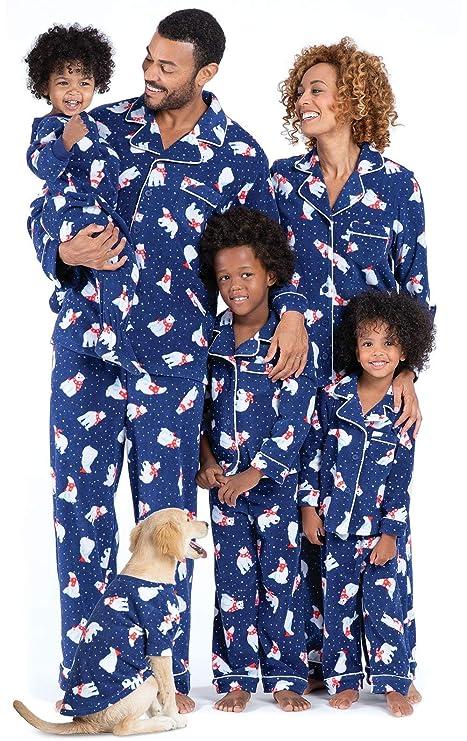 PajamaGram Family Matching Christmas Pajamas - Cozy Fleece, Navy, Toddler, 5T best Christmas pajamas for families
