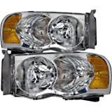 Dodge Ram 1500 2500 3500 Pickup Headlights Headlamps Driver/Passenger Pair New