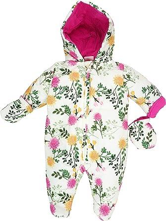 Mädchen Winteroverall Baby Kleinkinder Schneeanzug mit Kapuze 62//68 Overall NEU