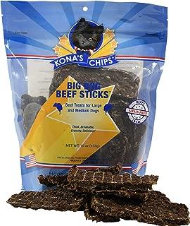 product image for KONA'S CHIPS Big Dog Beef Sticks Dog Treats