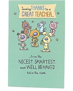 Tarjeta de agradecimiento para profesor, tarjeta de ...