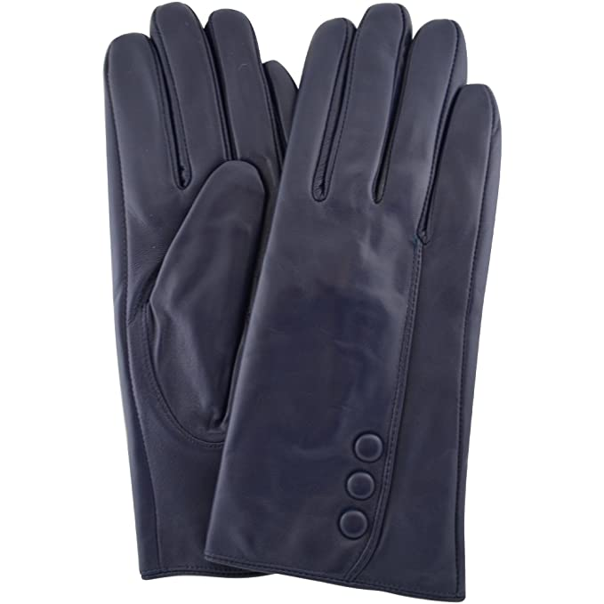MENS PREMIUM BUTTER SOFT LEATHER GLOVES WITH 3 POINT STITCH DESIGN
