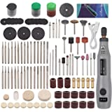 Mini Rotary Tools 160 pcs Electric Rotary Tool Kit, USB Recharge Mini Electric Cordless Drill Grinder with 135…