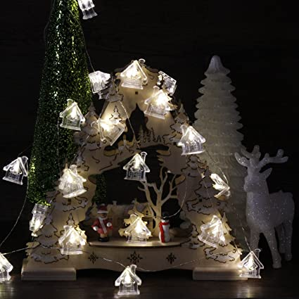 promo code baa1e 9bdef Impress Life Christmas Church Shape String Lights Decoration, 10 ft 20 LED  3D Snow House Cabin Icons with Remote for Xmas Tree Santa Gift, DIY Home,  ...