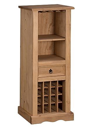 Mercers Furniture Corona Wine Rack Pine Amazon Co Uk Kitchen Home