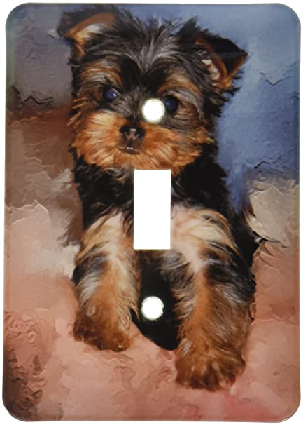 3drose Llc Lsp38681 Toy Yorkie Puppy Single Toggle Switch