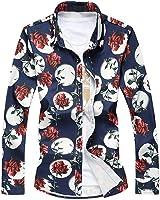 B dressy Men Shirts Long Sleeve NEW Rose Mens White Hawaiian Shirt Men Shirt Camisas Para Hombre L-6XL 7XL