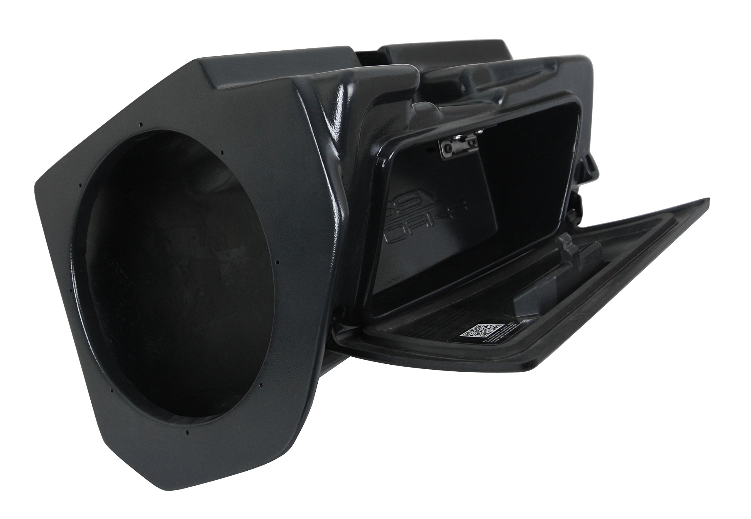 SSV Works Polaris RZR1K 2 and 4 seat and 2015 RZR900 2 and 4 seat Glove Box Replacement Subwoofer Enclosure designed for a 10'' Speaker