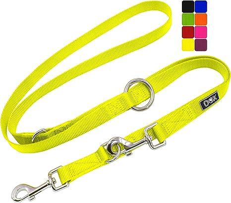 Ajustable en 3 tama/ños DDOXX Correa Perro Multiposici/ón Nylon Mediano y Grande 2m Correa Accesorios Doble 2 Gato Cachorro 2 m XS Naranja para Perros Peque/ño Muchos Colores /& Tama/ños