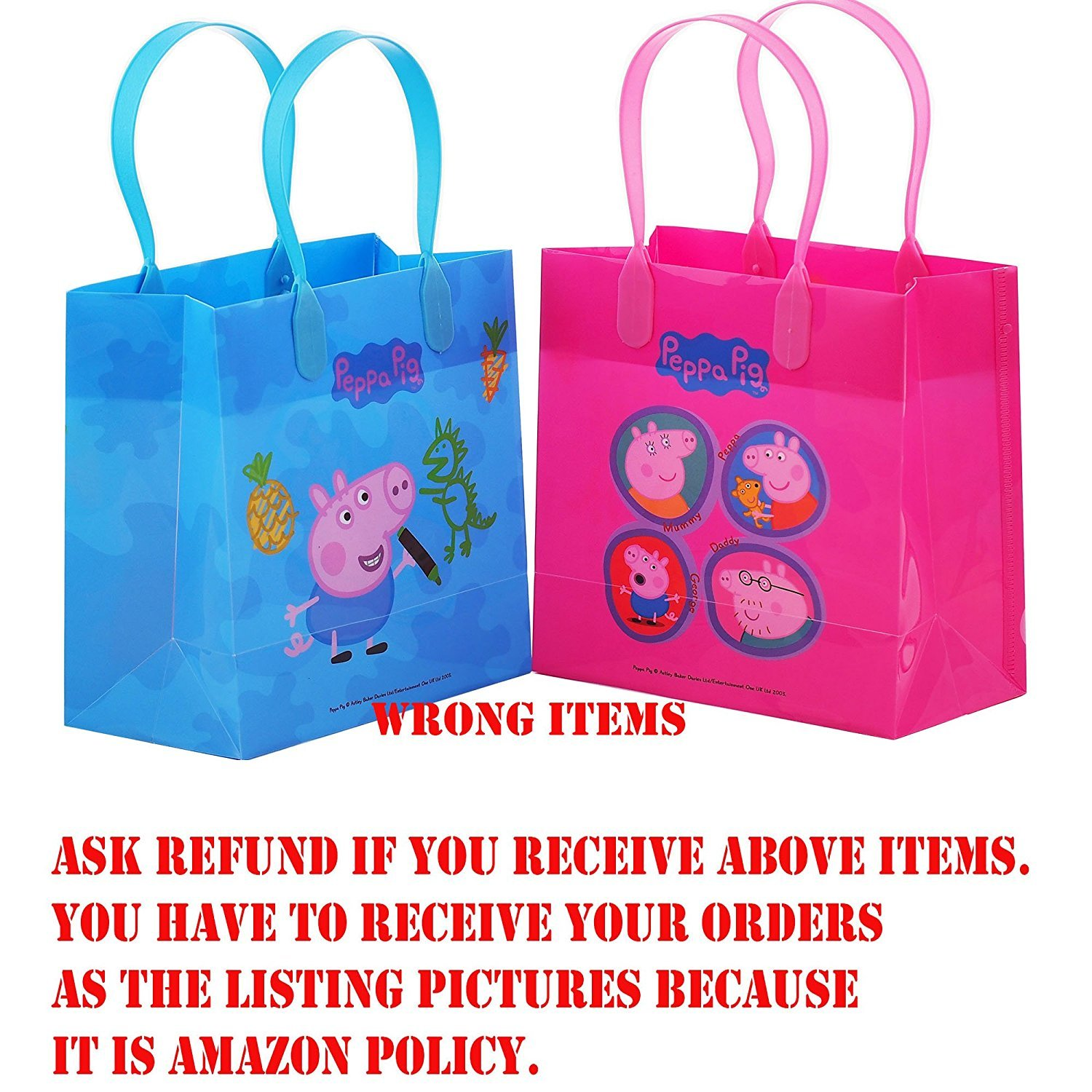 Amazon.com: Peppa Pig Party Favor Goodie Gift Bag - 6\