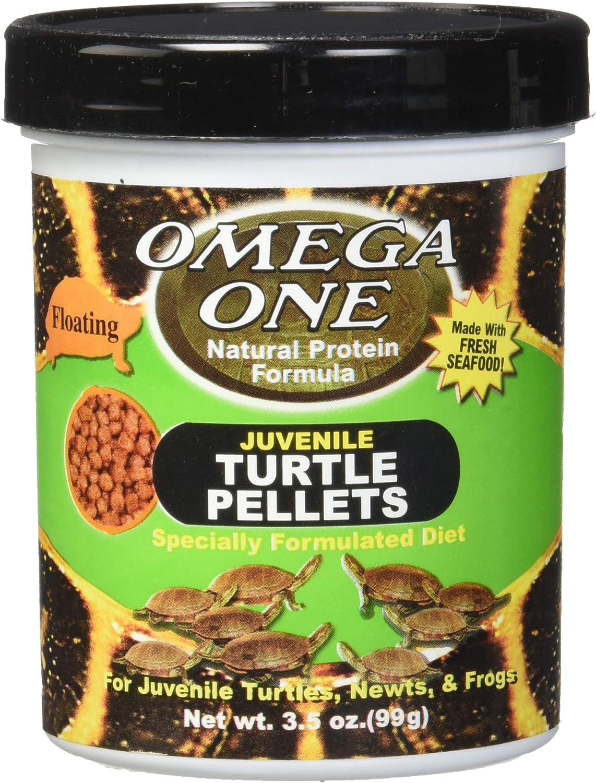 Omega One Juvenile Turtle Pellets, 3mm Pellets, Floating 3.5 oz