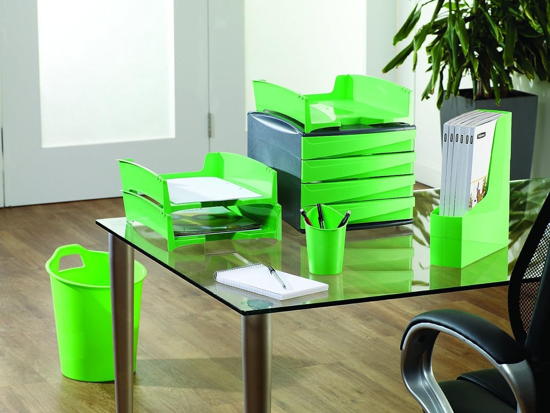 Trasparente Blu Fellowes 0017601 Portariviste Green2Desk