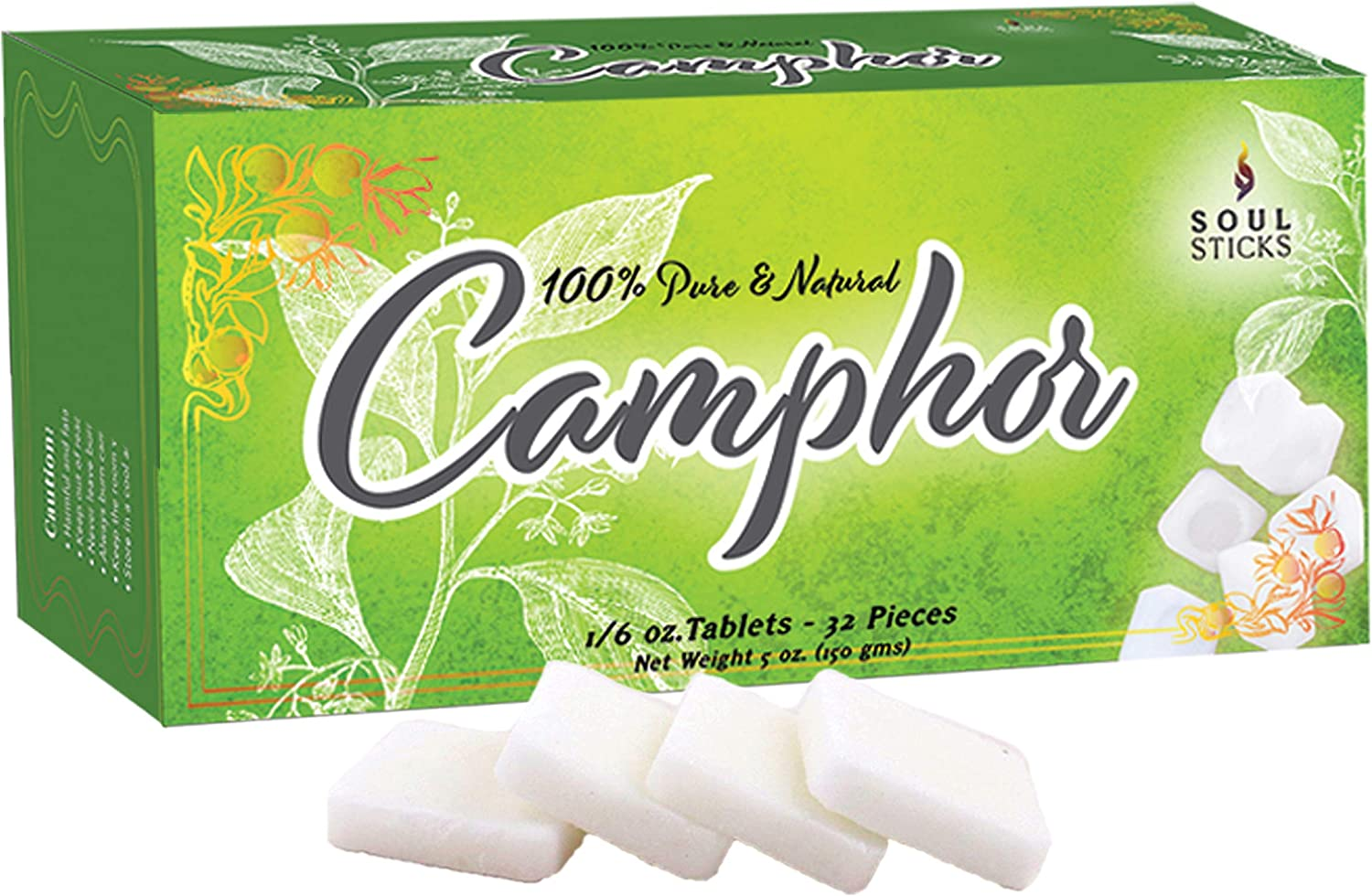New Camphor Refined Blocks Alcanfor Insect Repellent High Quality 16Pack x 4Tab.
