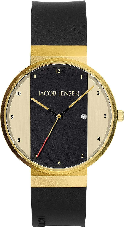 Jacob Jensen Reloj Analógico para Unisex de Cuarzo con Correa en Caucho New Series Item NO. 734