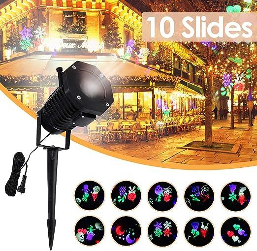 KING DO WAY Proyector LED, lámpara proyector de Navidad Exterior ...