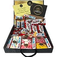 Lote para Regalo +25 Chocolates Kinder y 450 grs de Chuches, Contiene Chocobons, Kinder Maxi, Kinder Bueno, Kinder Joy…