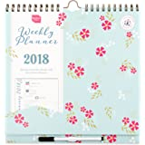 2018 Boxclever Press Weekly Planner calendar. Family Calendar that starts straight away and runs until December 2018. Big spaces for each day.