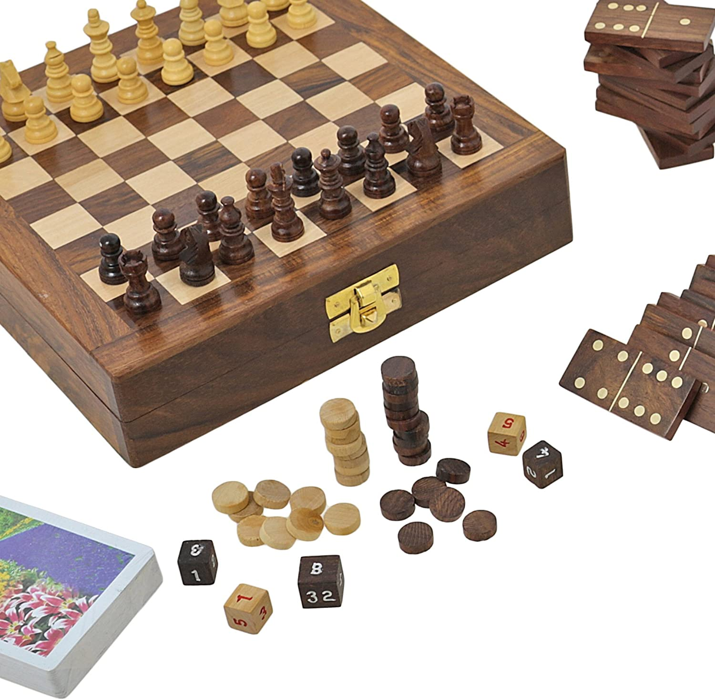 Juego De Mesa De Madera Para Los Adultos Tres En Uno Backgammon ...