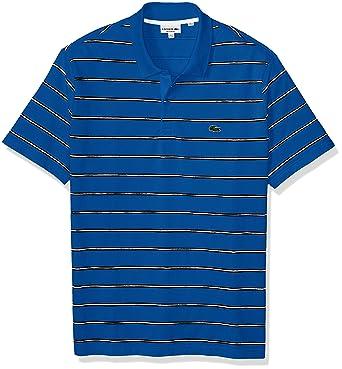 9af6004f77 Lacoste Men's Short Sleeve Striped Printed Mini Pique Regular Fit ...