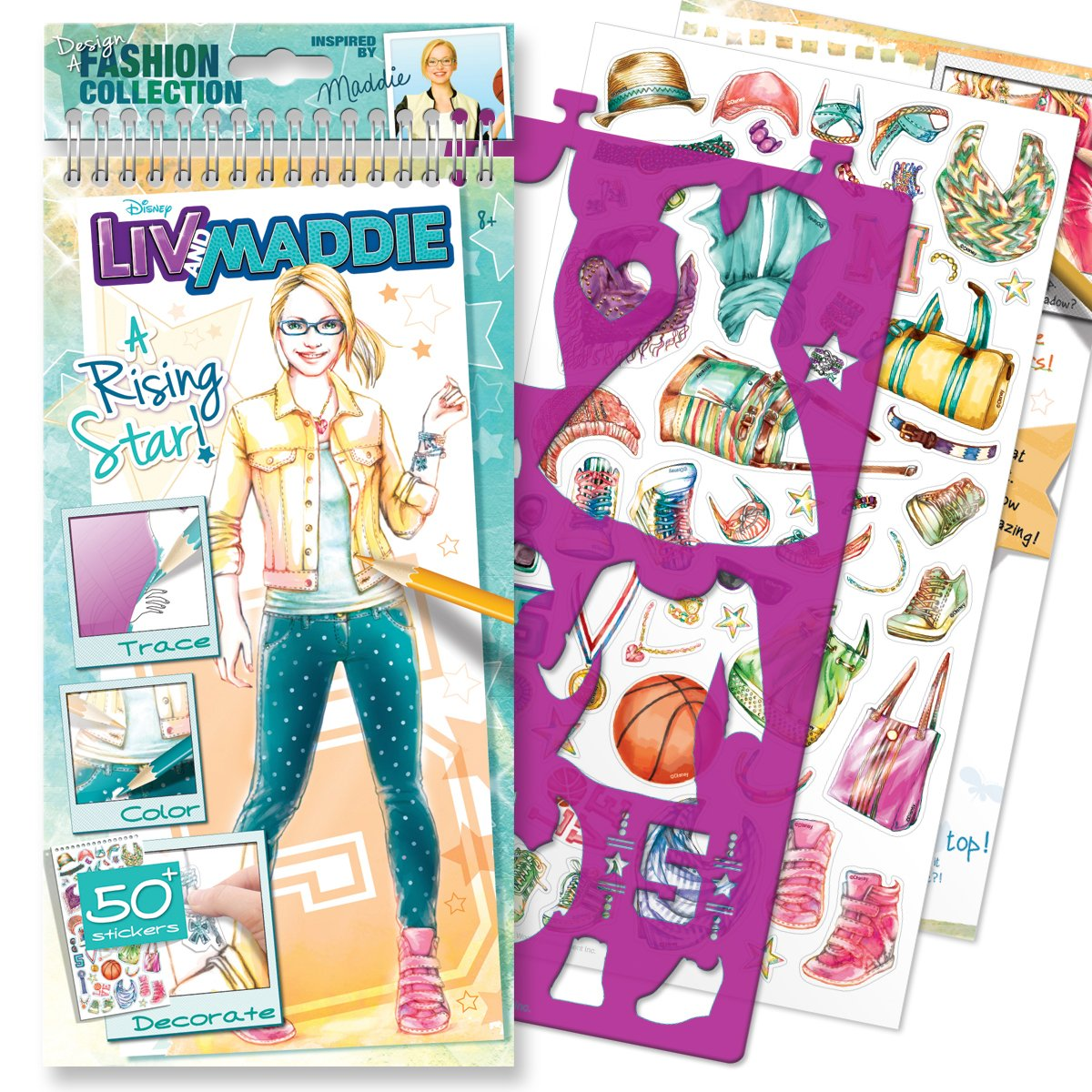Printable coloring pages liv and maddie - Amazon Com Style Me Up Disney Channel Liv And Maddie A Rising Star Small Sketchbook Toys Games