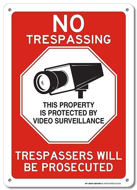 Amazon.com: No Trespassing esta Propiedad está protegido por ...