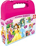 Educa - 16508 - Koffer Progressive Puzzle - Disney Princesse - Set De 4