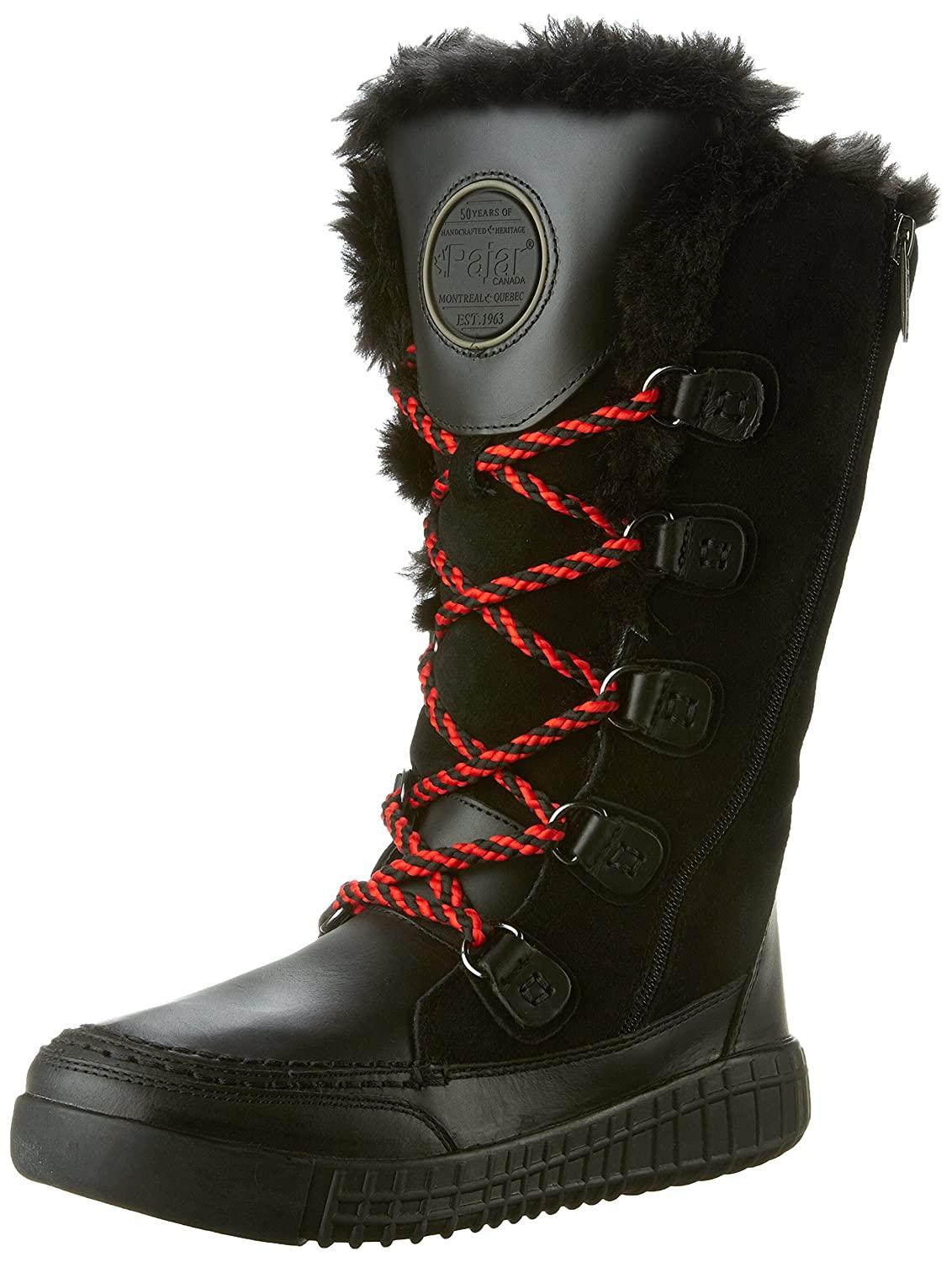 Pajar Women's Paityn Snow Boot B01B65O6PC 37 EU/6-6.5 M US|Black/Black