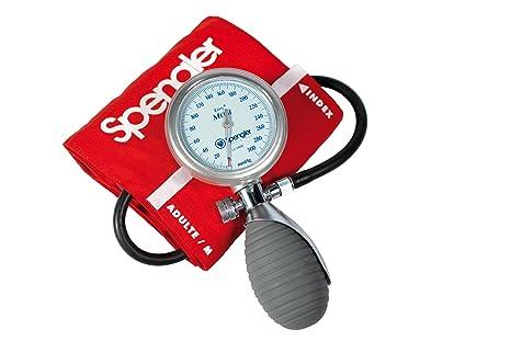 Spengler Lian - Tensiómetro manual con brazalete para adultos (velcro, algodón, talla M