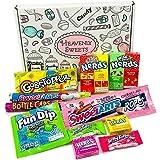 Mini boîte American Candy Wonka | Sélection coffret bonbons confiseries | Assortiment inclut Nerds et Gobstoppers | Coffret cadeau vintage de 11 pièces