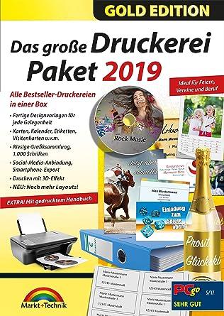 Das Große Druckerei Paket 2019 Einladungen Glückwunsch Karten Etiketten Cd Dvd Labels Visitenkarten