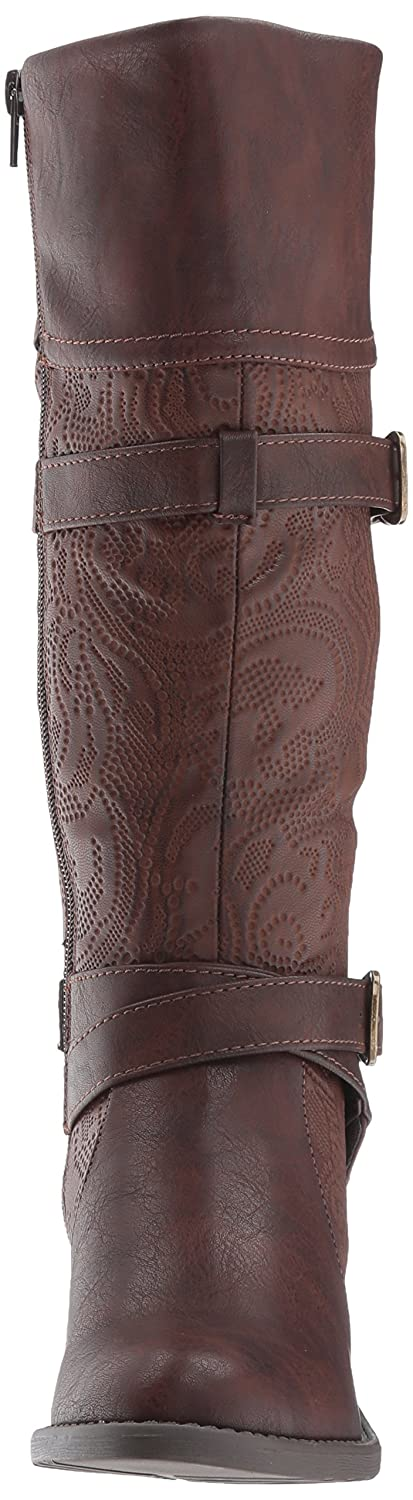 Easy Street Women's Kelsa Harness Boot B071FN377N 10 W US|Brown/Embossed