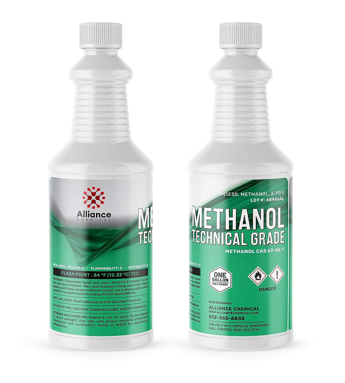Methanol Technical Grade One Quart 32 Fluid Ounces w/Reusable Leak and Evaporation Proof Seal